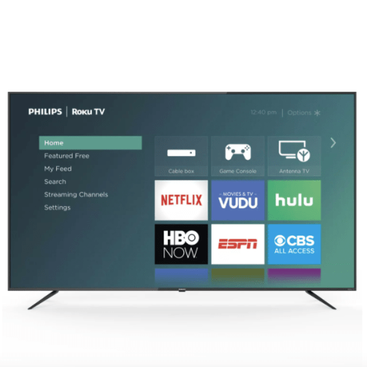 Philips 75″ Class Roku Smart 4k UHD LED HDTV with HDR for $599