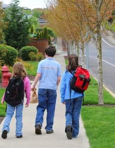 kids walking to school clarke county iowa osceola