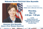 governor kim reynolds icecream social welcome home celebration