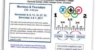 osceola businesses applied math course swcc