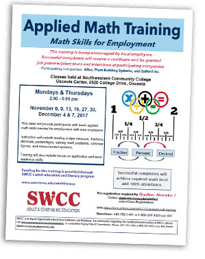 osceola businesses applied math course swcc