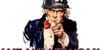 Osceola Volunteer Fire Department in Recruitment Campaign