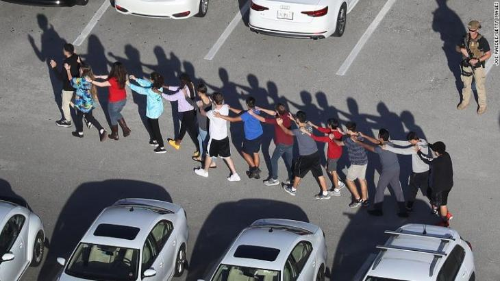 <> on February 14, 2018 in Parkland, Florida.