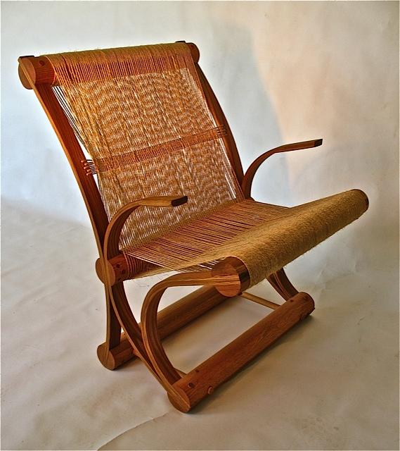 Elm and Sisal Chair