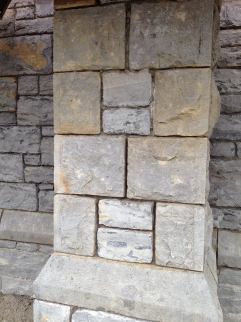 Lime pointing at The Holy Cross Church, Lisnaskea