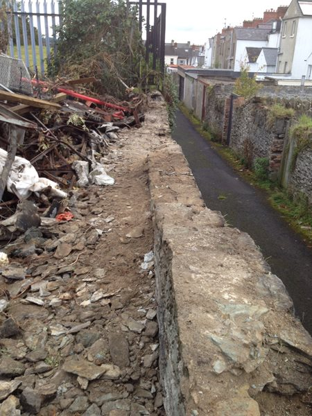 Stone Repair Works To Boundary Walling At Brooke Park