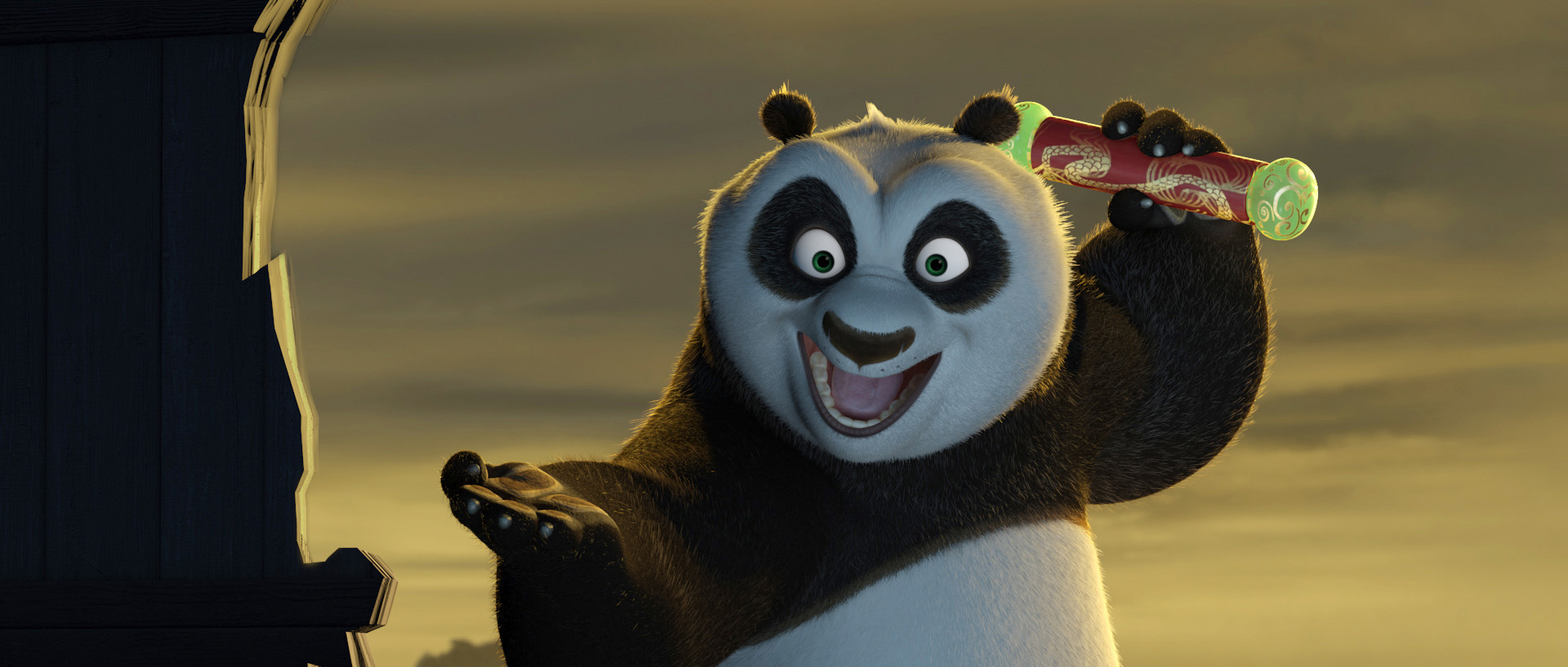 """Po completes his training and receives the Dragon Scroll in """"Kung Fu Panda."""""""