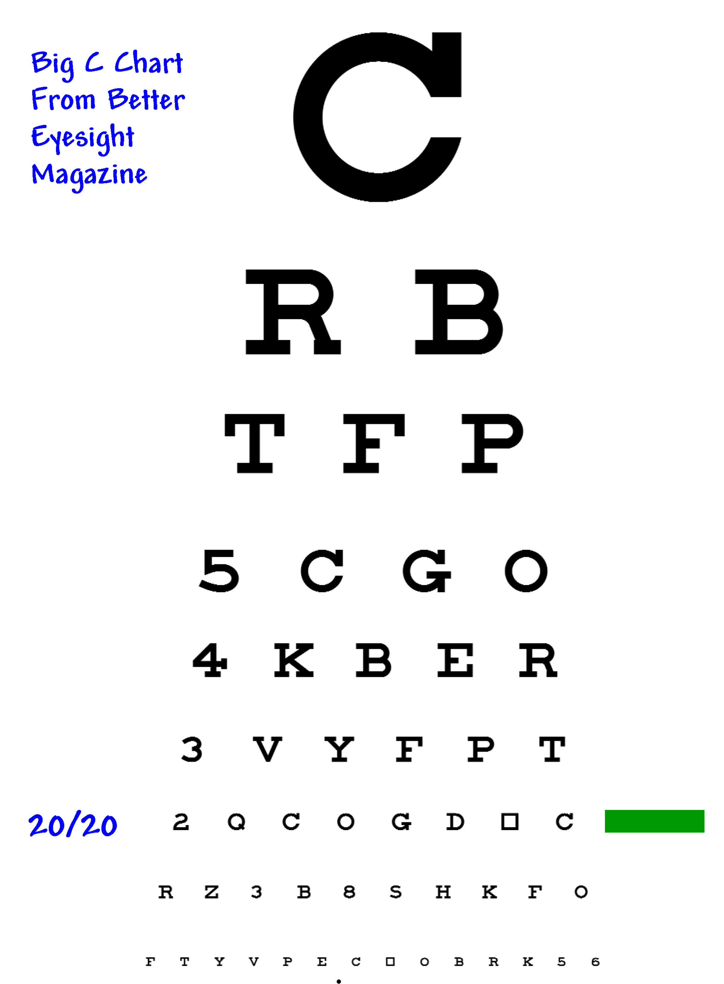 Shifting Seeing Eyechart Letters Clear Without Trying