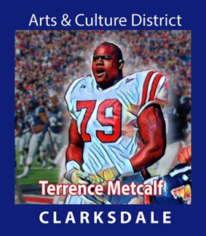 Clarksdale National Football League and college All-American football player, Terrence Metcalf.