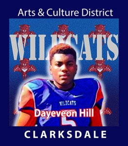 Clarksdale High School football player, Dayeveon Hill.