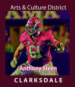 Former Clarksdale, Univ. of Alabama and current Miami Dolphins football player, Anthony Steen.