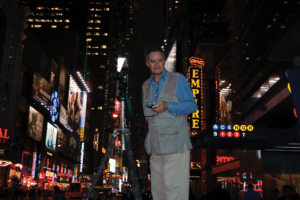 Langdon in New York City amid much of his work and inspiration.