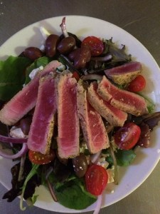 The Stone Pony ahi salad special.