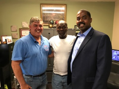 Ken Murphey, Michael Hunter and Willie Turner Jr. when Michael was at the treatment center.