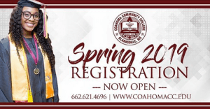 Register Now For Spring 2019 At Coahoma Community College Official