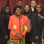 Elaine Baker, Ph.D. holds a black history and poverty panel at Cohoma Community College.