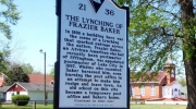 Frazier Baker lynching marker, South Carolina.