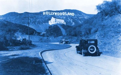 The original Hollywood sign.