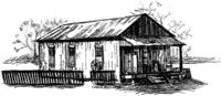 Sketch of The Shack Up Inn.