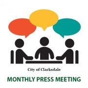 City of Clarksdale monthly press meeting.