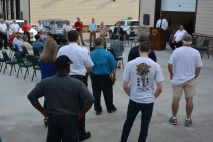 Ribbon cutting for the new Clarksville Fire Rescue Maintenance Garage on Wed July 7 2021 (Lee Erwin).
