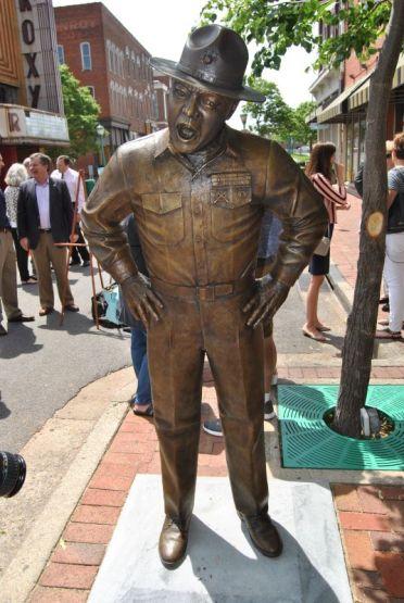 Frank Sutton Statue Dedicated In Clarksville
