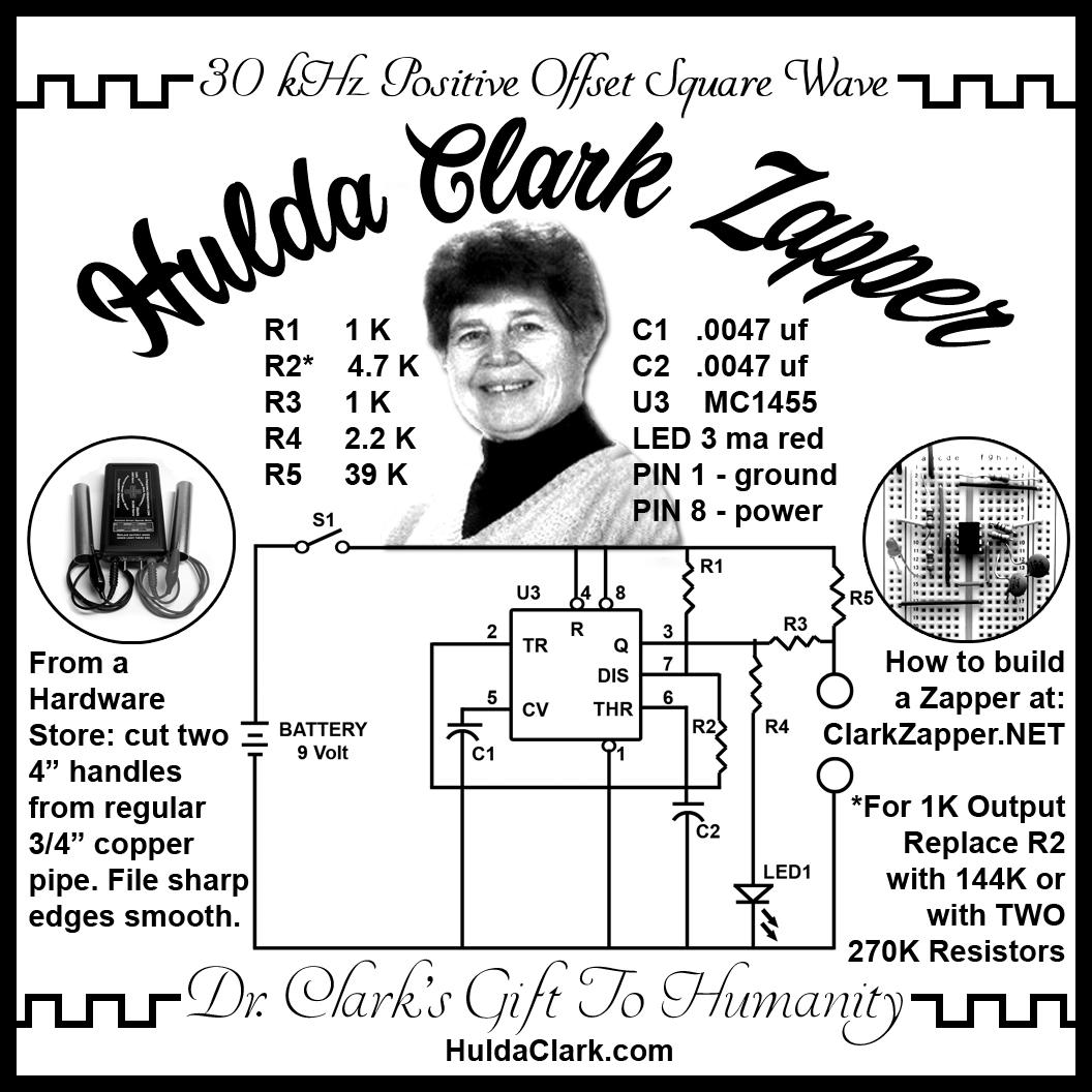 Hulda Clark Zapper Schematic 30 Khz And Hz