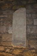 No Criptopórtico, placa onde fala sobre a Aeminium, antiga cidade romana construída onde hoje está Coimbra.