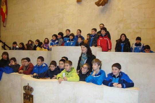 Visita al Parlamento de Cantabria