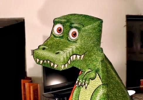 Crea la ilusión óptica del Dinosaurio Rex