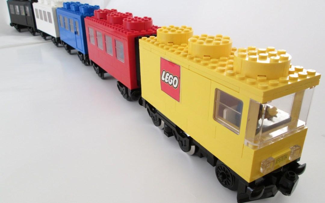 Súbete al tren de LEGO