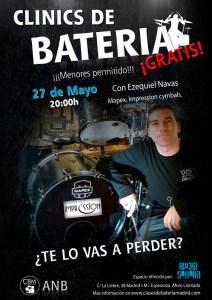 3er clinic de bateria CLASES DE BATERIA MADRID