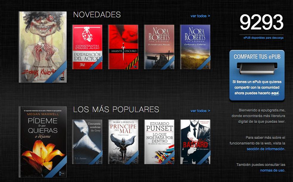 EPUB, Un Lugar Para Descargar Gratis Más De 9,000 Libros