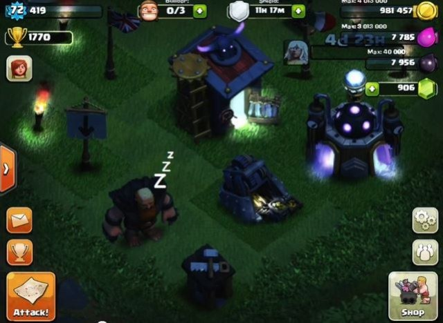 Clash-of-Clans-giant-at-night