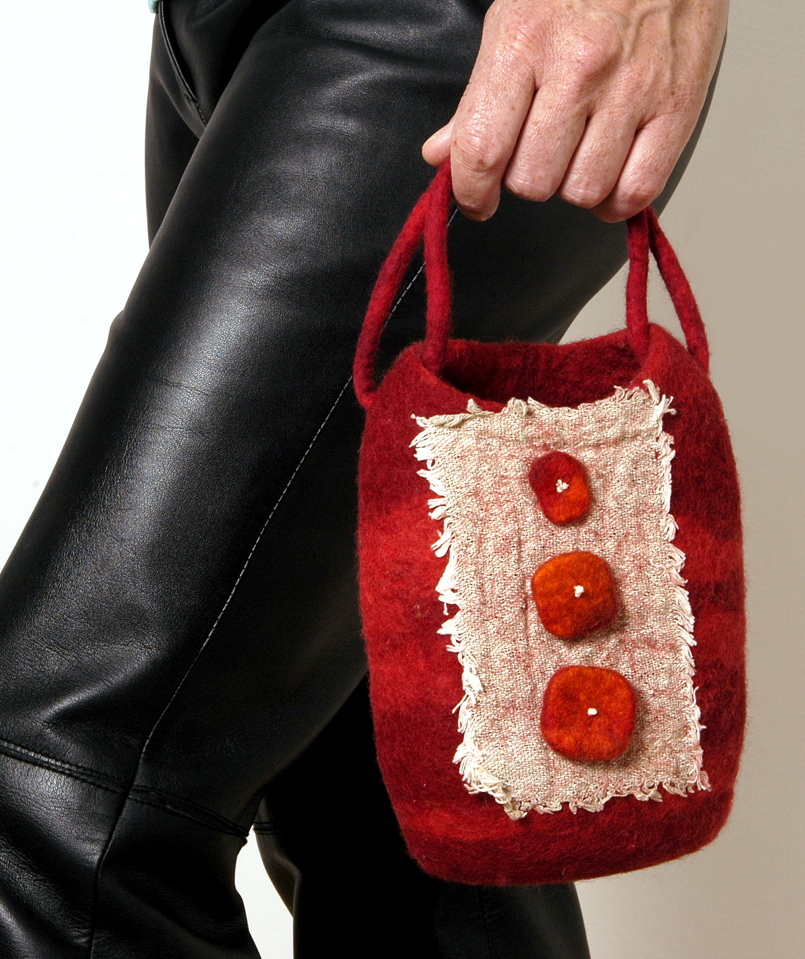 Nuno felt and merino handbag