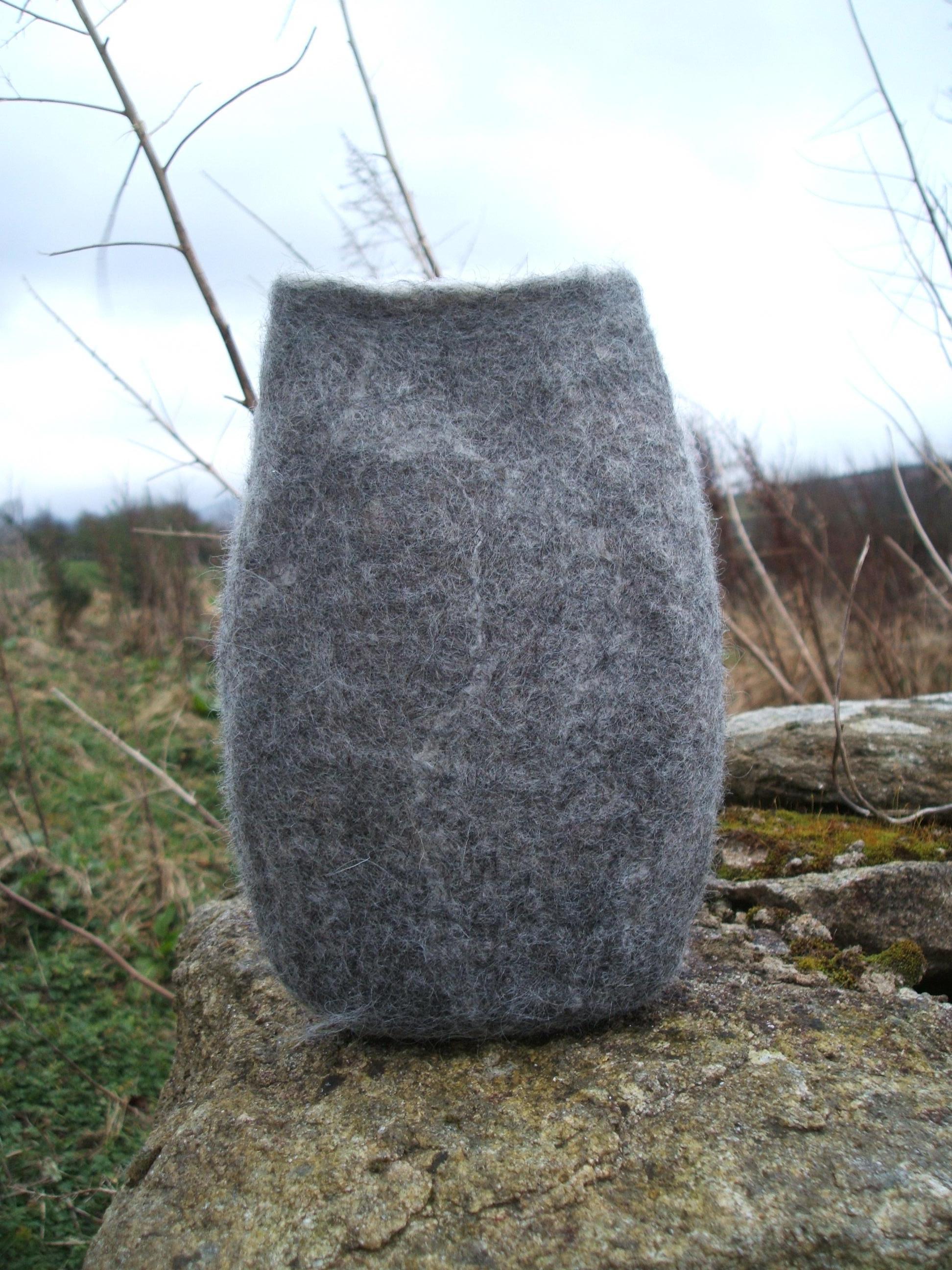 Margaret's natural felt vessel
