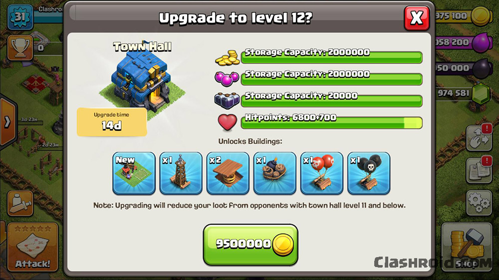 Clash of Clans Giga Tesla, TH 12 Private servers, COC Mod TH 12, working clash of clans private servers, clash of clans private servers screenshot