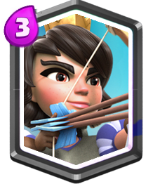 Carta Princesa Clash Royale