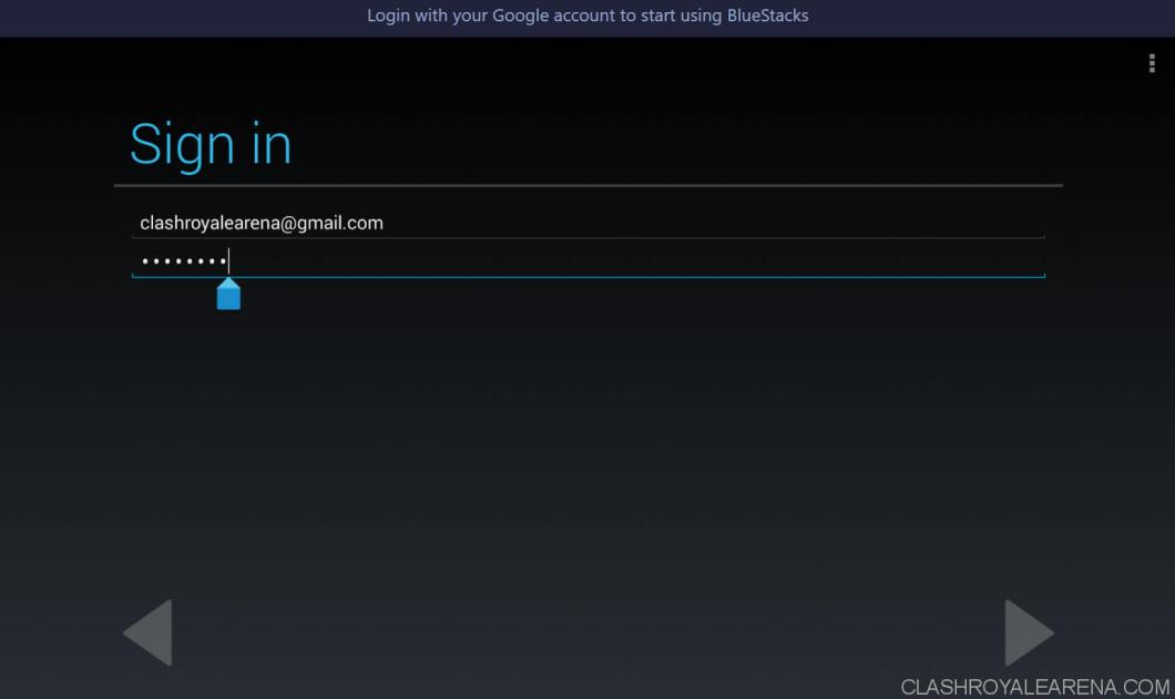 sign in with google account to use bluestacks