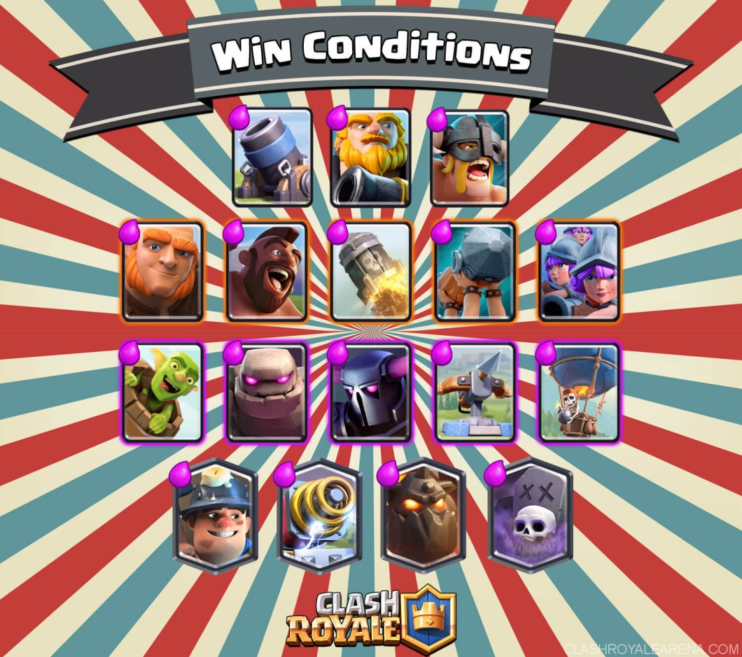 clash royale win conditions