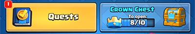 quests menu clash royale