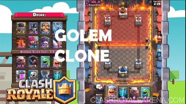 Golem Clone Deck That Works Clash Royale Guides