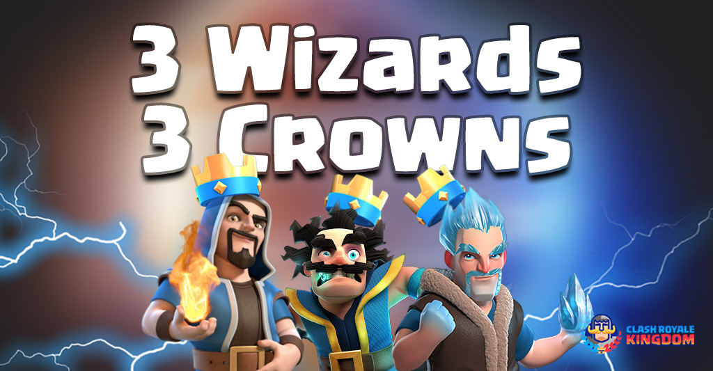 3 Wizards for 3 Crowns – Three Elements at One Deck