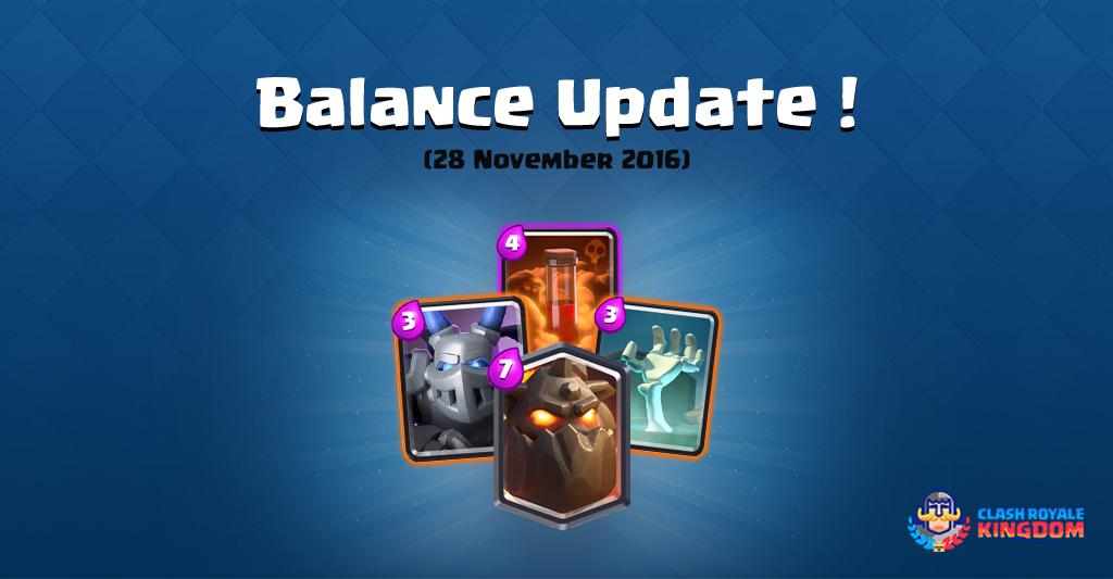 Balance Changes Live! (28 November, 2016)