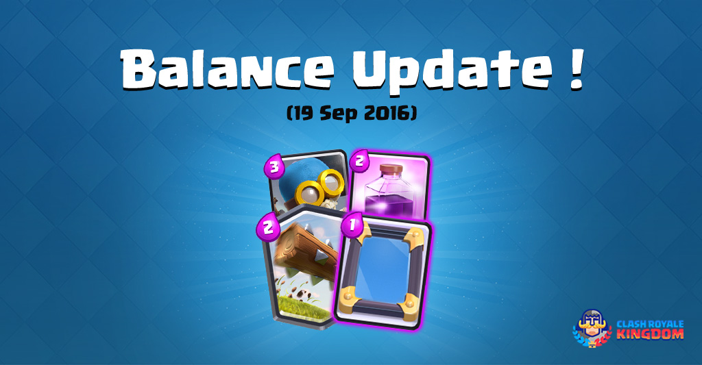 Balance Changes Live! (19 September, 2016)