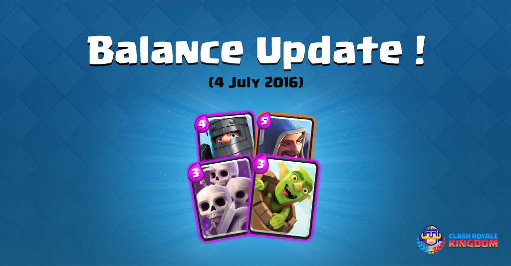 Balance Changes Live! (4 July, 2016)