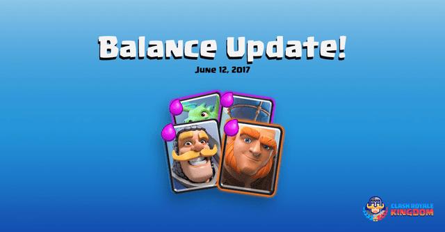 Balance Changes Live! (12 June, 2017)