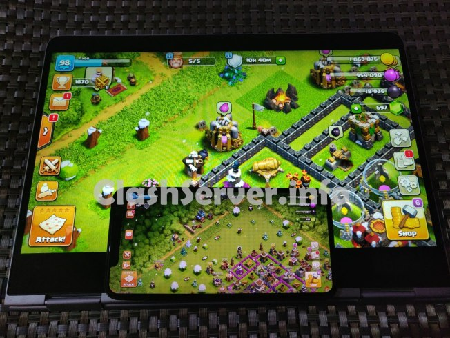Clash of Clans Laptop version vs iPhone XS Max