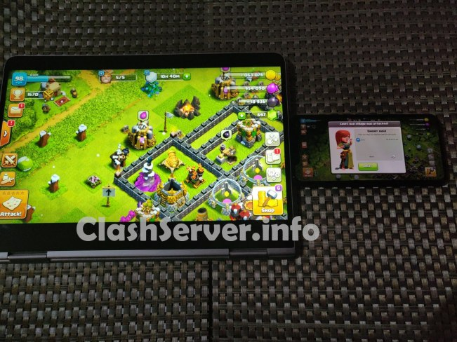 Clash of Clans Laptop version vs iPhone version