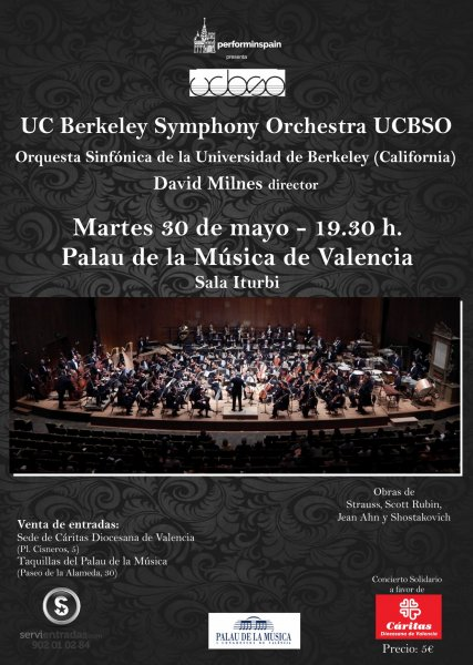 Concierto en Valencia de la Orquesta Sinfonica de la Universidad de Berkeley